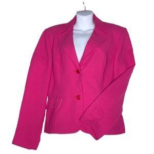 Bob Mackie Fuscia Pink Lined Blazer Size 12